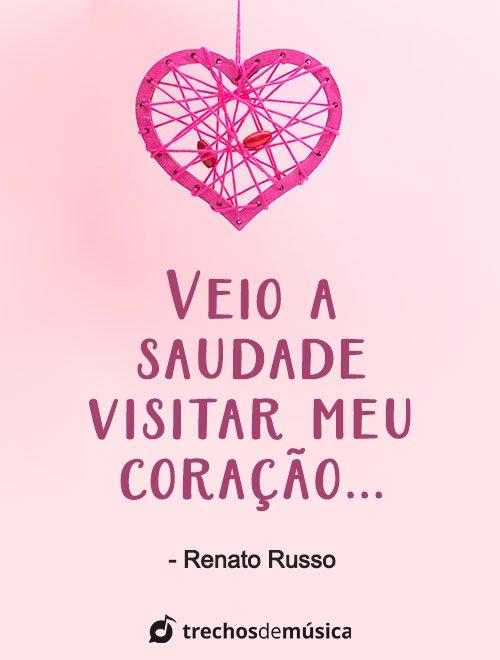 Frases de Renato Russo para Status Emocionantes 1